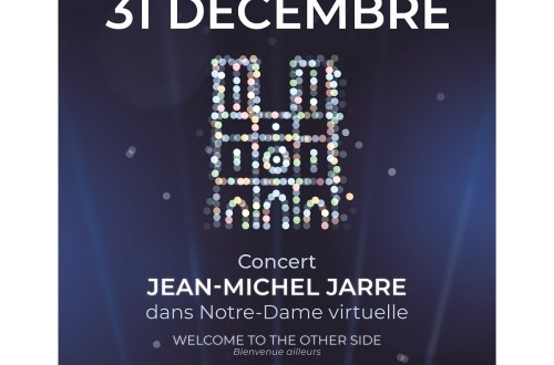 poster for December 31 Jean-Michel Jarre virtual reality at Notre-Dame de paris