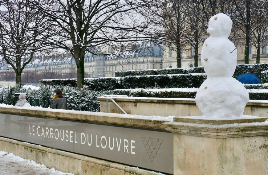A Day in Paris When It Snowed