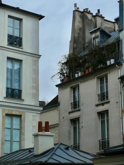 Windows out the window of Karsten Greve Galerie rue Debelleyme Paris