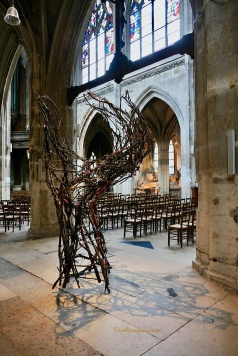 Main (Hand) Wood Sculpture Paul Walker Hamy Eglise Saint-Merry