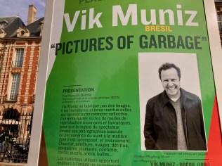 Sign for Vik Muniz Brazil Pictures of Garbage