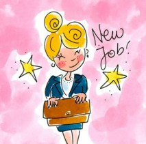Collega nieuwe baan