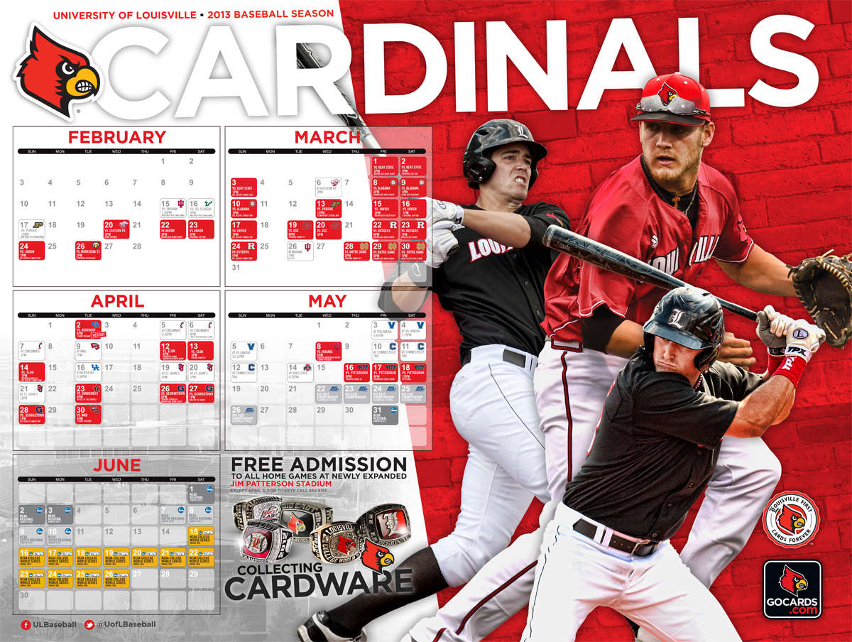 2013 Posters Louisville Cardinals College Baseball Daily