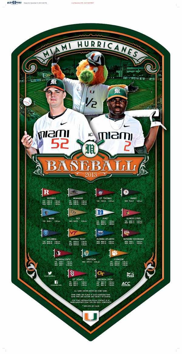 Miami Baseball Poster