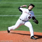 4/29/16 Braintree Massachusetts: Northeastern Aaron Civale  during a non-conference game. The Huskies defeated the Blue Devils 2-1 at Parsons Field in Braintree, Massachusetts