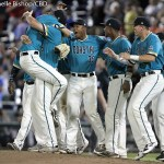 Coastal Carolina beat Arizona 5-4 in the second game of the College World Series finals at TD Ameritrade Park in Omaha, Neb. (Photo by Michelle Bishop)
