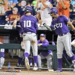 Coastal Carolina beat TCU 7-5 and advances to play Arizona for the NCAA national championship at TD Ameritrade Park in Omaha, Neb. (Photo by Michelle Bishop)
