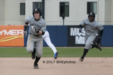 Ethan Paul and Alonzo Jones score on Julian Infante's second inning double - Photo By David Cohen, BHEphotos