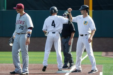3/17/17: USF BSB vs LMU at Benedetti Diamond in San Francisco, CA. Dons lose 6-5 San Francisco Dons outfielder Matt Sinatro (4) Image by Chris M. Leung for USF Dons Baseball