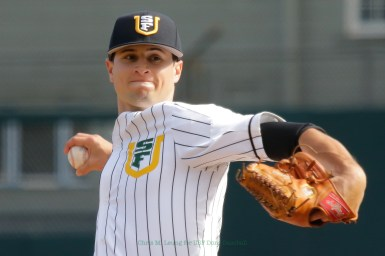 3/17/17: USF BSB vs LMU at Benedetti Diamond in San Francisco, CA. Dons lose 6-5 San Francisco Dons pitcher Grant Goodman (21) Image by Chris M. Leung for USF Dons Baseball