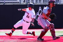 Friday, April 14, 2017; Brookline, MA; Northeastern Huskies infielder Nick Fanneron (23) slides into home plate during the Huskies 6-3 victory over the Cougars in a CAA matchup at Parsons Field.
