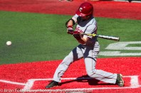 Friday, April 14, 2017; Brookline, MA; College of Charleston infielder Tommy Richter (2) at the plate during the Huskies 6-3 victory over the Cougars in a CAA matchup at Parsons Field.