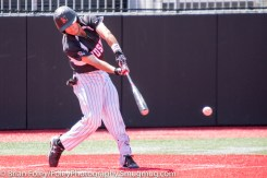 Sunday, April 16, 2017; Brookline, MA; Northeastern Huskies infielder Mason Koppens (1) reaches for a pitch during the Huskies 6-3 victory over the Cougars in a CAA matchup at Parsons Field.