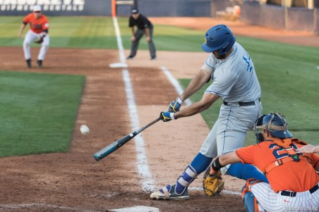 Austin Bush. CSUF defeated UCSB 8-4, Fullerton, CA, May 12, 2017.