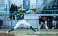 UO relief pitcher James Acuna delivers to the plate againt Oregon State during Thursday's Civil War game at PK Park in Eugene, Oregon.