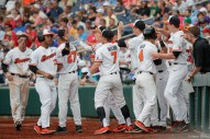 2017 College World Series: Oregon State defeated CSUF 6-5.