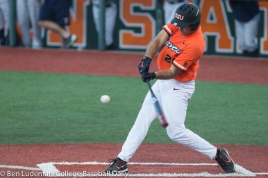 Corvallis, OR - JUNE 4: Jack Anderson (29) of the Oregon State Beavers during an 8-1 Oregon State Beavers victory over the Yale Bulldogs in an NCAA Championship Regional Playoff game on June 4, 2017 at Goss Stadium on the campus of Oregon State University in Corvallis, OR (Photo by Ben Ludeman)