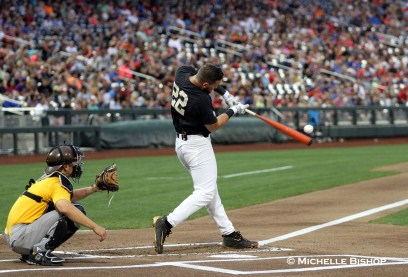 Vanderbilt's Julian Infante. The eighth annual College Home Run Derby was held Saturday, July 1, 2017 at TD Ameritrade Park in Omaha. (Photo by Michelle Bishop)