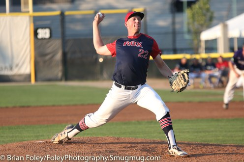 7/11/17, Hanover Insurance Park at Fitton Field Worcester, MA: Zach Martin throws a pitch during the USA Collegiate Team's 6-4 victory over the Futures League Prospects Team at Hanover Insurance Park at Fitton Field.