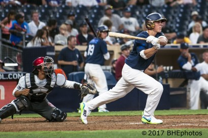 Jordan Groshans singles 2 more runs. in 2017 Perfect Game All American Game - Photo By David Cohen, BHEphotos