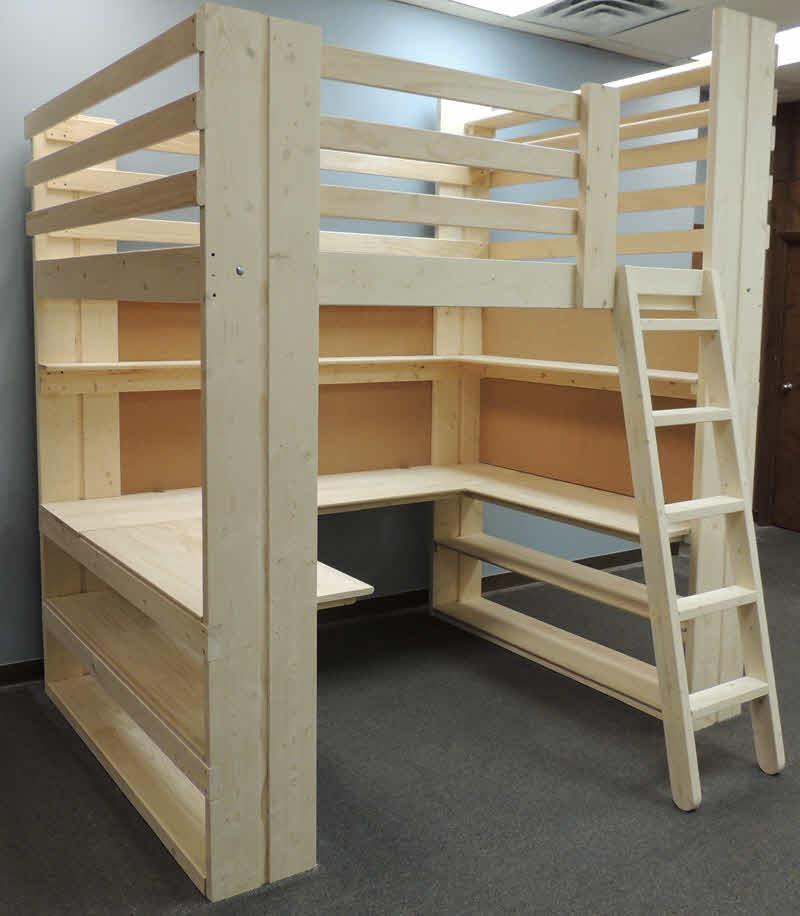 Workstation Loft Bed Specs Amp Order Form Made In USA