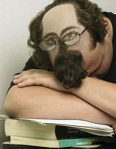 Guy Sleeping in Class
