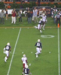 Gamecock WR Pharoh Cooper goes high for a 16-yard TD snag against Auburn in 2014.