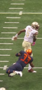 Jameis Winston, the most recent Heisman winner, we saw in action this past season against Syracuse.