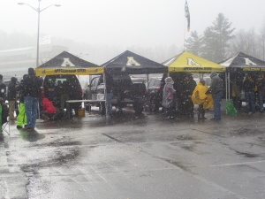 At Appy State in Boone, NC, these fans were prepared for the elements in October before the Georgia State game in 2014.