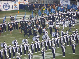Penn State's Blue Band always gets Beaver Stadium roaring for the Nittany Lions when the enter the field.