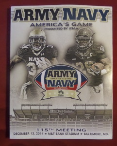 My first big-time college game was Army-Navy in 1972. The 115th edition in 2014 was my tenth Army-Navy game.