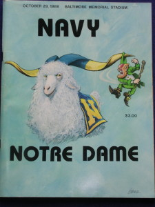 Of Navy's losses, six are to Notre Dame. We finally saw them live up to this depiction with a win over the Irish in 2010.