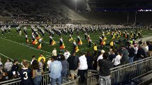 Post game with the Penn State Blue Band.