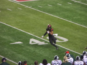RU's Justin Goodwin picks up 18 yards on a catch to the MSU 26.