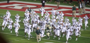 """Michigan State acame out smelling like """"Roses"""" after last week's last second win over Michigan.  They play Ohio State at The Shoe on November 21."""