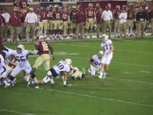 Georgia Tech's Harrison Butker kicked a 35-yard field goal with 54 seconds left to tie FSU, 16-16.