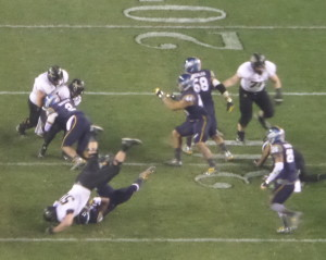 Army limited Navy's triple option to 199 yards on the ground.