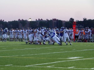 The Privateers (in white) opening drive.