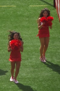 Most of the action this afternoon at our end of the stadium was performed by the RU Dance Team.