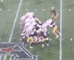 Navy's defense held Houston to 125 yards on the ground.
