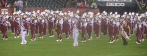 The marching Owls always seem to have good time when they at performing at Owl football games. We like them.