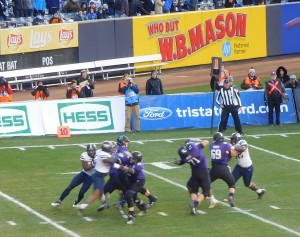 As Cat said, neither team was dogging it as Wildcat QB Thoroson threw this one down field.