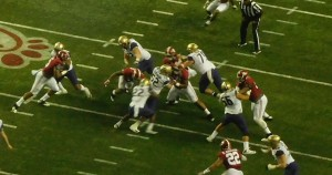 The Crimson Tide defense held the Husky offense to a season low 194 yards at the Peach Bowl.
