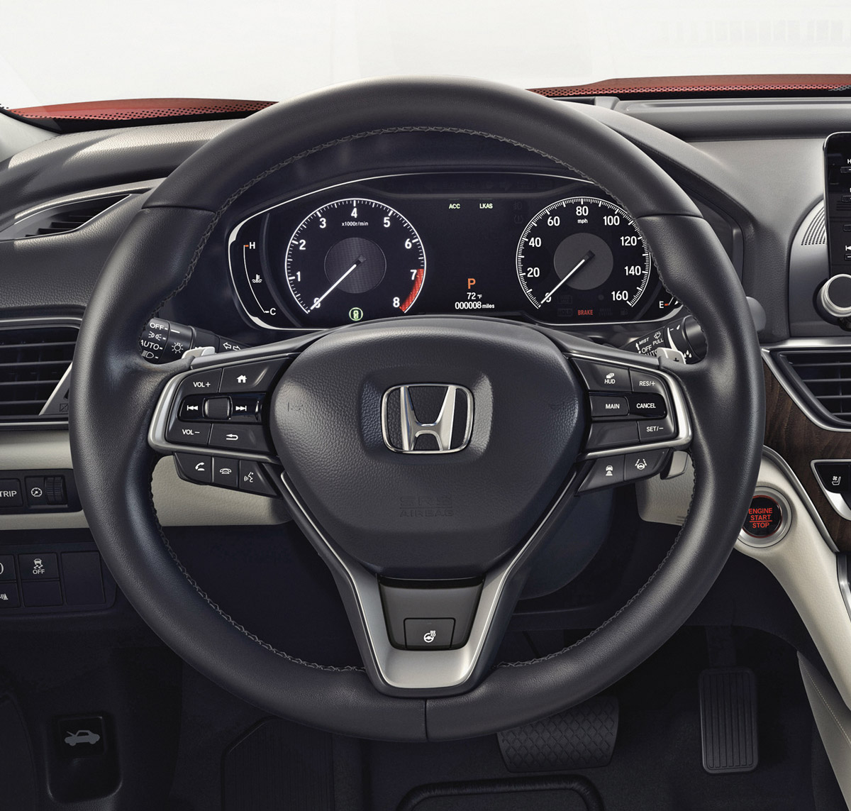 2018 Honda Accord Heated Steering Wheel Wo Paddle