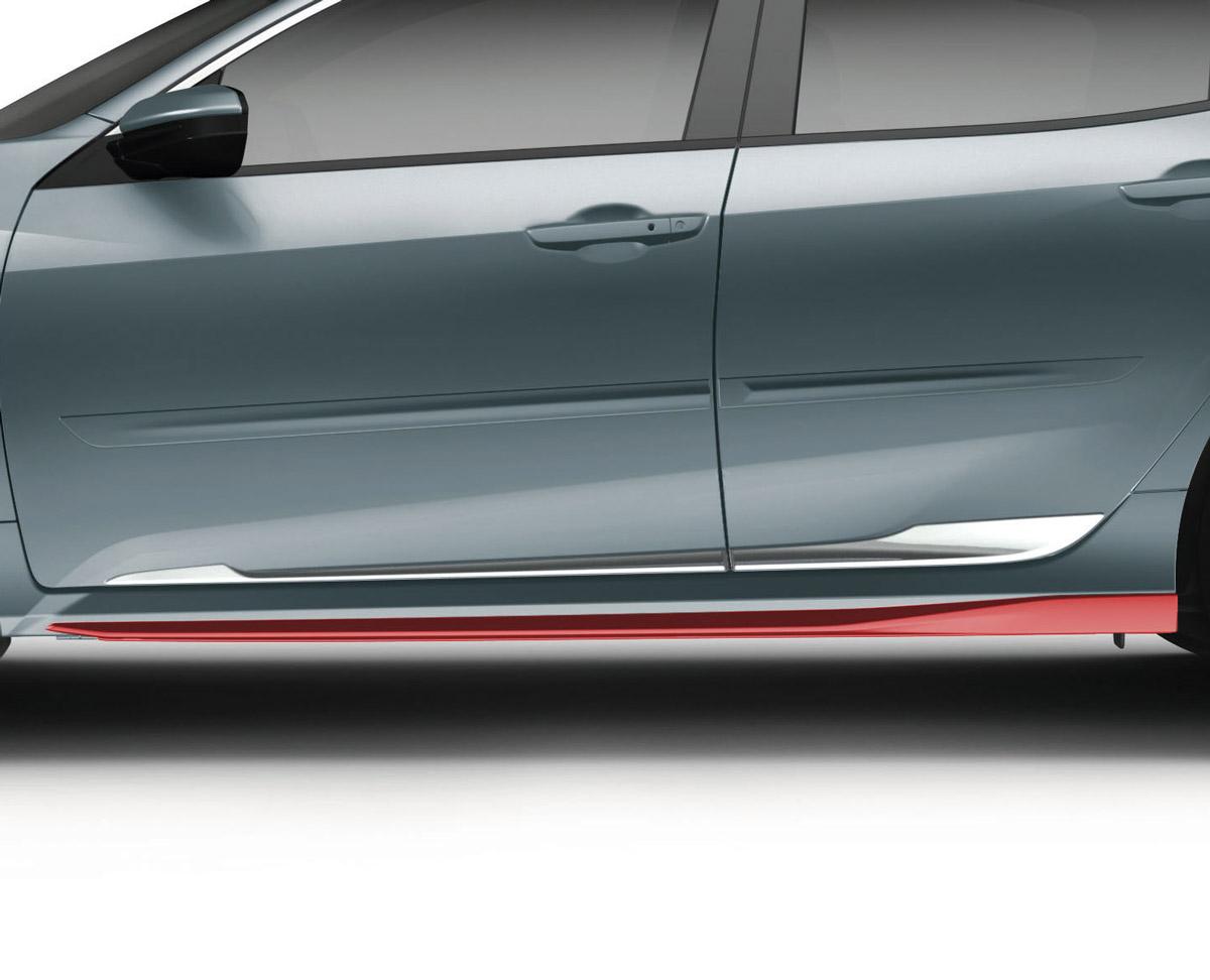 2017 2018 Honda Civic Hatchback Rallye Red Side Underbody