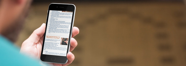 FreshStart Newsletter viewed on a smart phone