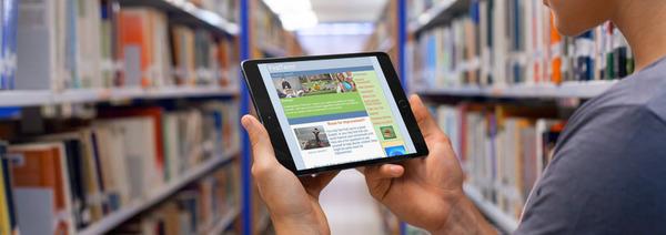 FreshStart newsletter displayed on a tablet