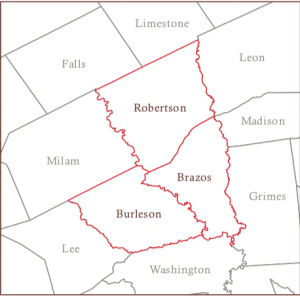 Map of Brazos Valley