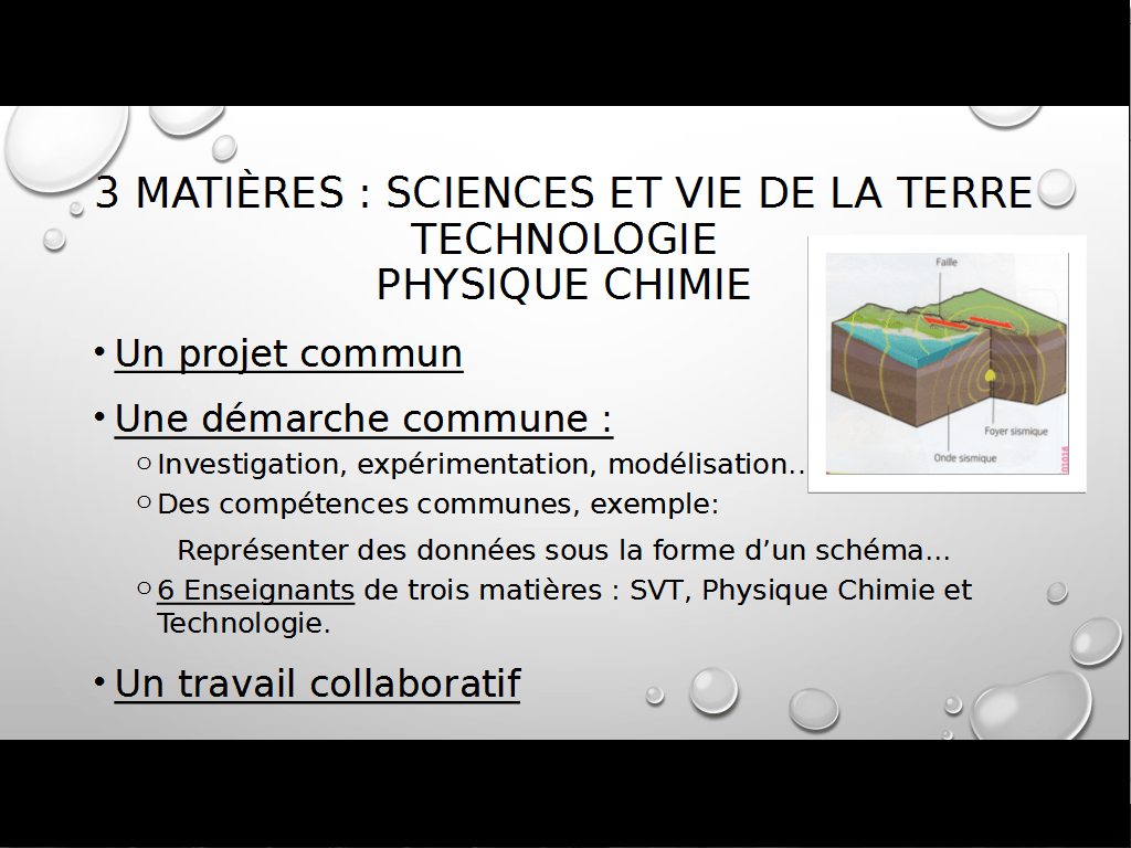 sciences en 6ème - EIST - 2