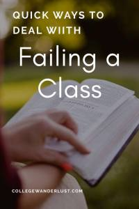 Quick ways to deal with failing a class